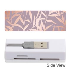Rose Gold, Asian,leaf,pattern,bamboo Trees, Beauty, Pink,metallic,feminine,elegant,chic,modern,wedding Memory Card Reader (stick)