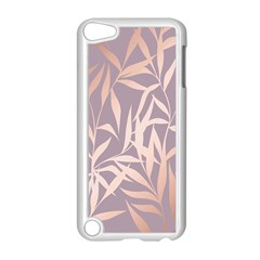 Rose Gold, Asian,leaf,pattern,bamboo Trees, Beauty, Pink,metallic,feminine,elegant,chic,modern,wedding Apple Ipod Touch 5 Case (white)