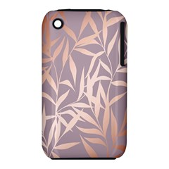 Rose Gold, Asian,leaf,pattern,bamboo Trees, Beauty, Pink,metallic,feminine,elegant,chic,modern,wedding Iphone 3s/3gs