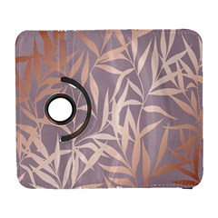 Rose Gold, Asian,leaf,pattern,bamboo Trees, Beauty, Pink,metallic,feminine,elegant,chic,modern,wedding Galaxy S3 (flip/folio)