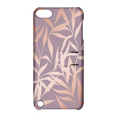 Rose Gold, Asian,leaf,pattern,bamboo Trees, Beauty, Pink,metallic,feminine,elegant,chic,modern,wedding Apple Ipod Touch 5 Hardshell Case With Stand