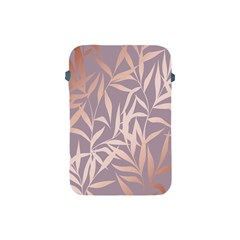 Rose Gold, Asian,leaf,pattern,bamboo Trees, Beauty, Pink,metallic,feminine,elegant,chic,modern,wedding Apple Ipad Mini Protective Soft Cases