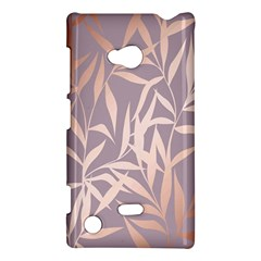 Rose Gold, Asian,leaf,pattern,bamboo Trees, Beauty, Pink,metallic,feminine,elegant,chic,modern,wedding Nokia Lumia 720