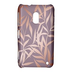 Rose Gold, Asian,leaf,pattern,bamboo Trees, Beauty, Pink,metallic,feminine,elegant,chic,modern,wedding Nokia Lumia 620