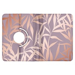 Rose Gold, Asian,leaf,pattern,bamboo Trees, Beauty, Pink,metallic,feminine,elegant,chic,modern,wedding Kindle Fire Hdx Flip 360 Case