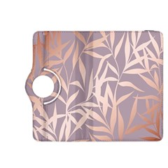 Rose Gold, Asian,leaf,pattern,bamboo Trees, Beauty, Pink,metallic,feminine,elegant,chic,modern,wedding Kindle Fire Hdx 8 9  Flip 360 Case