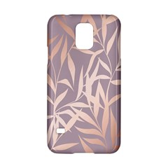 Rose Gold, Asian,leaf,pattern,bamboo Trees, Beauty, Pink,metallic,feminine,elegant,chic,modern,wedding Samsung Galaxy S5 Hardshell Case