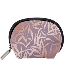 Rose Gold, Asian,leaf,pattern,bamboo Trees, Beauty, Pink,metallic,feminine,elegant,chic,modern,wedding Accessory Pouches (small)