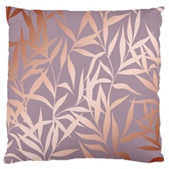 Rose Gold, Asian,leaf,pattern,bamboo Trees, Beauty, Pink,metallic,feminine,elegant,chic,modern,wedding Standard Flano Cushion Case (one Side)