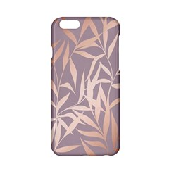 Rose Gold, Asian,leaf,pattern,bamboo Trees, Beauty, Pink,metallic,feminine,elegant,chic,modern,wedding Apple Iphone 6/6s Hardshell Case