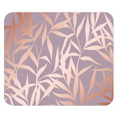 Rose Gold, Asian,leaf,pattern,bamboo Trees, Beauty, Pink,metallic,feminine,elegant,chic,modern,wedding Double Sided Flano Blanket (small)