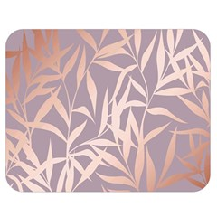 Rose Gold, Asian,leaf,pattern,bamboo Trees, Beauty, Pink,metallic,feminine,elegant,chic,modern,wedding Double Sided Flano Blanket (medium)