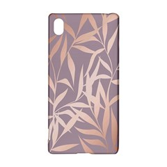 Rose Gold, Asian,leaf,pattern,bamboo Trees, Beauty, Pink,metallic,feminine,elegant,chic,modern,wedding Sony Xperia Z3+