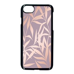Rose Gold, Asian,leaf,pattern,bamboo Trees, Beauty, Pink,metallic,feminine,elegant,chic,modern,wedding Apple Iphone 7 Seamless Case (black)