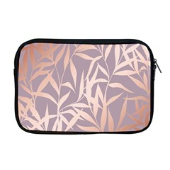 Rose Gold, Asian,leaf,pattern,bamboo Trees, Beauty, Pink,metallic,feminine,elegant,chic,modern,wedding Apple Macbook Pro 17  Zipper Case
