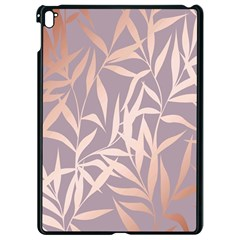 Rose Gold, Asian,leaf,pattern,bamboo Trees, Beauty, Pink,metallic,feminine,elegant,chic,modern,wedding Apple Ipad Pro 9 7   Black Seamless Case