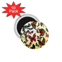 Colorful Butterflies 1 75  Magnets (10 Pack)