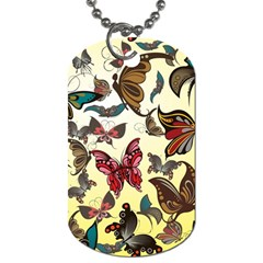 Colorful Butterflies Dog Tag (two Sides)