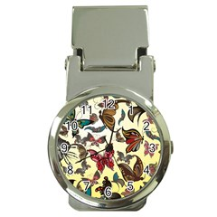 Colorful Butterflies Money Clip Watches