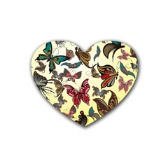 Colorful Butterflies Heart Coaster (4 Pack)