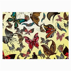 Colorful Butterflies Large Glasses Cloth