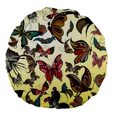 Colorful Butterflies Large 18  Premium Round Cushions
