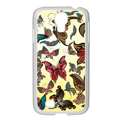 Colorful Butterflies Samsung Galaxy S4 I9500/ I9505 Case (white)