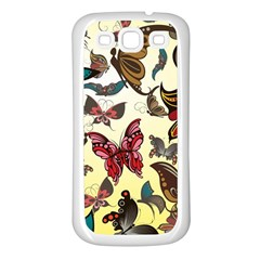 Colorful Butterflies Samsung Galaxy S3 Back Case (white)