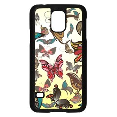 Colorful Butterflies Samsung Galaxy S5 Case (black)