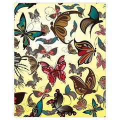 Colorful Butterflies Drawstring Bag (small)