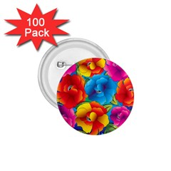 Neon Colored Floral Pattern 1 75  Buttons (100 Pack)