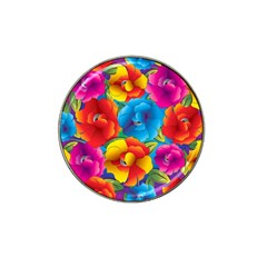 Neon Colored Floral Pattern Hat Clip Ball Marker (10 Pack)