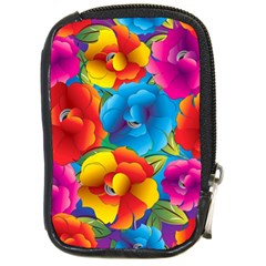Neon Colored Floral Pattern Compact Camera Cases