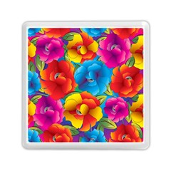 Neon Colored Floral Pattern Memory Card Reader (square)