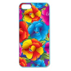 Neon Colored Floral Pattern Apple Seamless Iphone 5 Case (color)