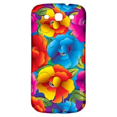 Neon Colored Floral Pattern Samsung Galaxy S3 S Iii Classic Hardshell Back Case