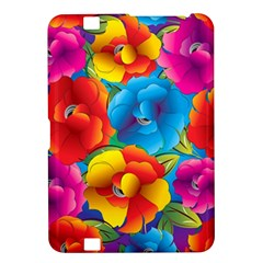 Neon Colored Floral Pattern Kindle Fire Hd 8 9