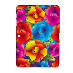 Neon Colored Floral Pattern Samsung Galaxy Tab 2 (10 1 ) P5100 Hardshell Case
