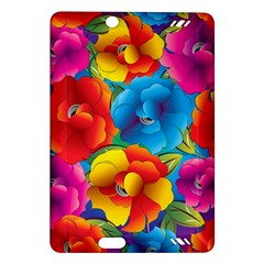 Neon Colored Floral Pattern Amazon Kindle Fire Hd (2013) Hardshell Case