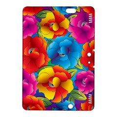 Neon Colored Floral Pattern Kindle Fire Hdx 8 9  Hardshell Case