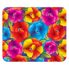 Neon Colored Floral Pattern Double Sided Flano Blanket (small)