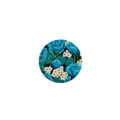 Light Blue Roses And Daisys 1  Mini Magnets