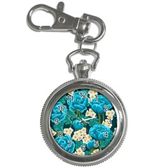 Light Blue Roses And Daisys Key Chain Watches