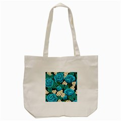 Light Blue Roses And Daisys Tote Bag (cream)