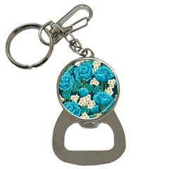 Light Blue Roses And Daisys Button Necklaces