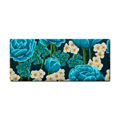 Light Blue Roses And Daisys Cosmetic Storage Cases