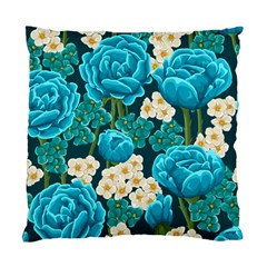 Light Blue Roses And Daisys Standard Cushion Case (two Sides)