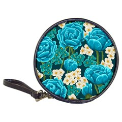 Light Blue Roses And Daisys Classic 20 Cd Wallets
