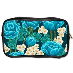 Light Blue Roses And Daisys Toiletries Bags
