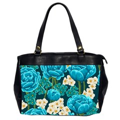 Light Blue Roses And Daisys Office Handbags (2 Sides)